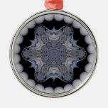 Ornamento redondo de plata #9 del caleidoscopio adorno de reyes