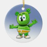 Ornamento redondo del árbol de navidad de Gummibär Ornamentos De Reyes