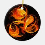 Ornamento redondo del arte abstracto de la bola de adorno