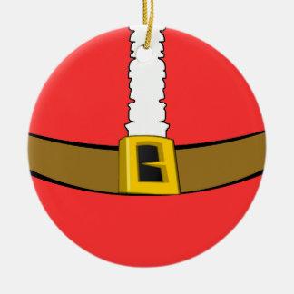 Ornamento redondo del Belly del juego de Santa Adornos De Navidad