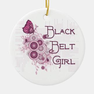 Ornamento redondo del chica de la correa negra de  ornamentos de reyes