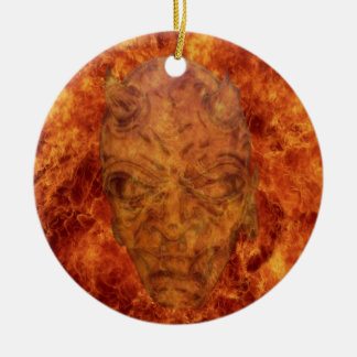 Ornamento redondo del demonio del fuego ornamentos de reyes magos