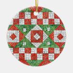 Ornamento redondo del mosaico del día de fiesta adorno de reyes
