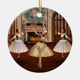 Ornamento redondo del navidad de las bailarinas ornaments para arbol de navidad