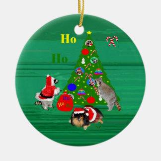 Ornamento redondo del navidad ornamento de navidad
