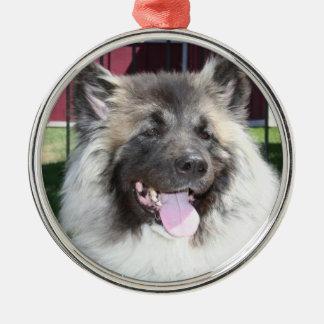Ornamento redondo del perro de Akita Ornamentos De Reyes