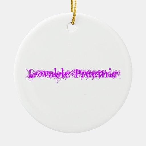 Ornamento redondo del prematuro adorable ornatos