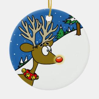 Ornamento redondo del reno ornamentos de navidad