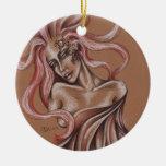 Ornamento redondo del silfo ornamento para arbol de navidad
