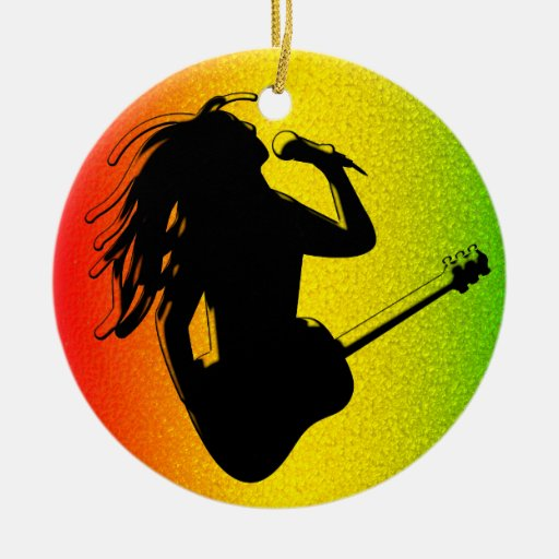 Ornamento redondo estándar de Rastafarian del regg Adornos De Navidad