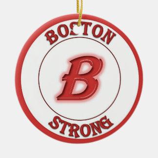 Ornamento redondo fuerte de Boston Adorno Navideño Redondo De Cerámica
