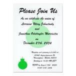 ornamento redondo green.png del navidad invitación 12,7 x 17,8 cm