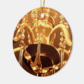 ORNAMENTO REDONDO lamentable de Bling 1-Gold de la Adorno Navideño Redondo De Cerámica