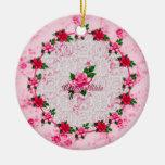 Ornamento redondo lamentable elegante de la cabaña ornamentos de navidad