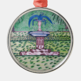 Ornamento redondo Parque-superior de Forsythe Adorno Redondo Plateado