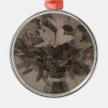 Ornamento redondo superior - ramo del vintage ornamentos de navidad