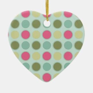 ornamento retro 3 del corazón adorno de navidad