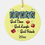 Ornamento retro de Bunco - premio o regalo Ornaments Para Arbol De Navidad