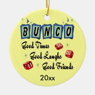 Ornamento retro de Bunco - premio o regalo Adorno Redondo De Cerámica