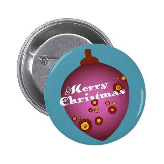 Ornamento retro de color de malva del navidad de A Pins