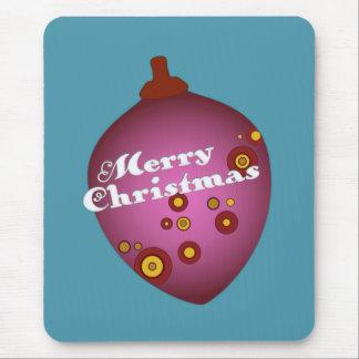 Ornamento retro de color de malva del navidad de alfombrilla de raton