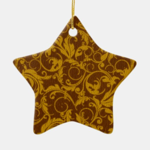 Ornamento retro de la estrella de Brown de la Ornamento Para Arbol De Navidad