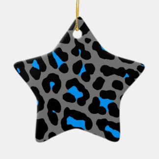 Ornamento retro de la estrella del estampado adorno navideño de cerámica en forma de estrella