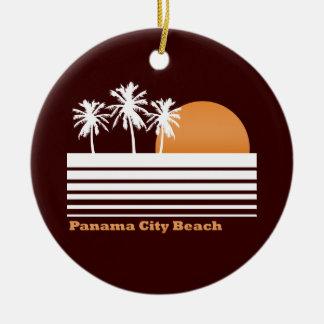 Ornamento retro de la playa de ciudad de Panamá Ornamento Para Arbol De Navidad