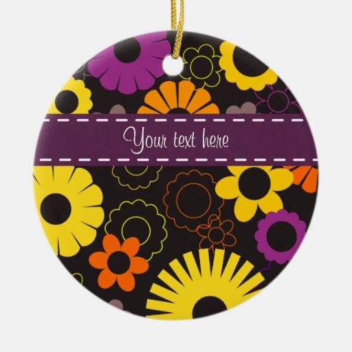 Ornamento retro de las flores ornamento para arbol de navidad