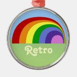 Ornamento retro del arco iris ornamento de navidad