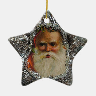 Ornamento retro del navidad de la estrella del adorno navideño de cerámica en forma de estrella
