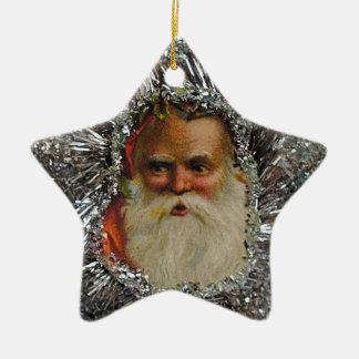 Ornamento retro del navidad de la estrella del adorno de cerámica en forma de estrella