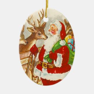 Ornamento retro del navidad de Santa Ornato