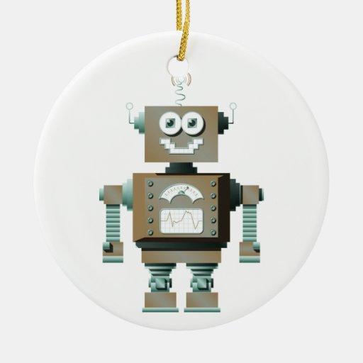 Ornamento retro del robot del juguete (lt) ornamento para reyes magos