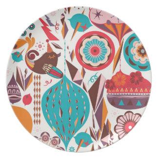 Ornamento retro platos para fiestas