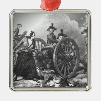 Ornamento revolucionario del cañón de la jarra de adorno cuadrado plateado