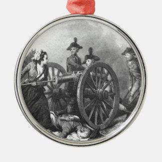 Ornamento revolucionario del cañón de la jarra de adorno redondo plateado