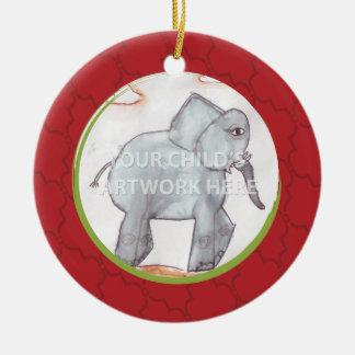 Ornamento rojo $21,95 del enrejado adorno navideño redondo de cerámica