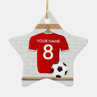Ornamento (rojo) adaptable Pend de la estrella de  Adornos De Navidad