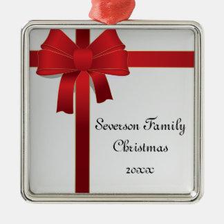 Ornamento rojo de encargo del navidad de la famili adorno de reyes