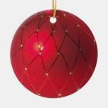 Ornamento rojo de la bola del navidad ornamento para arbol de navidad
