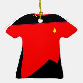 Ornamento rojo de la camisa de Moonbase Ornatos