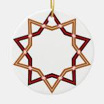 Ornamento rojo de la estrella del navidad ornamentos para reyes magos