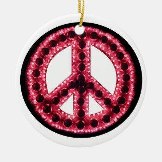 Ornamento rojo de la paz ornatos