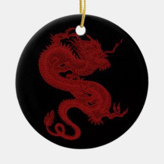 Ornamento rojo de Pendragon del dragón Ornamento Para Arbol De Navidad