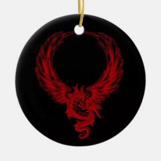 Ornamento rojo de Ryuu del dragón Ornato