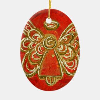 Ornamento rojo del ángel adorno de reyes