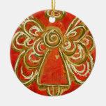 Ornamento rojo del ángel ornamentos de reyes