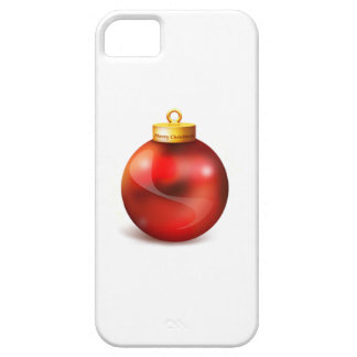 Ornamento rojo del árbol de navidad iPhone 5 fundas