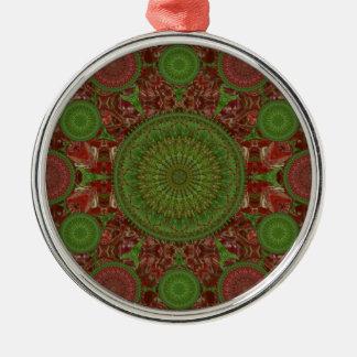 Ornamento rojo del arsenal de la mandala del adorno de reyes